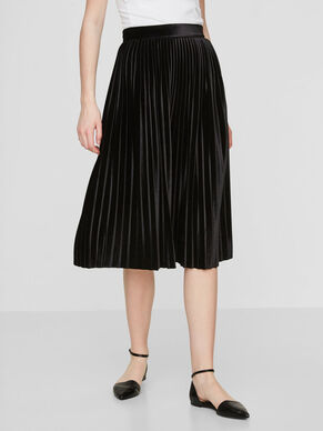 HW PLEATED VELVET SKIRT
