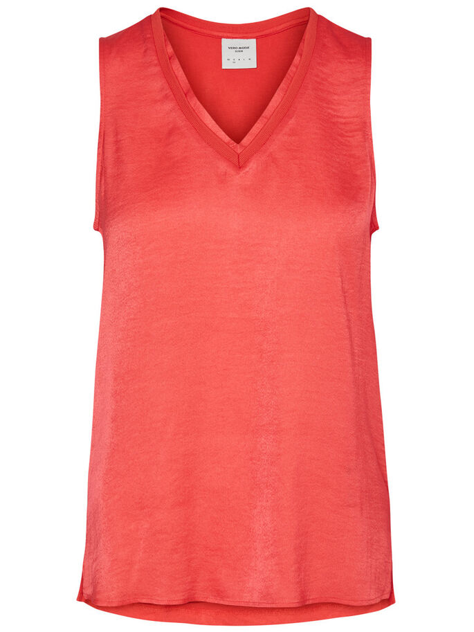 FEMININE SLEEVELESS TOP, Hibiscus, large