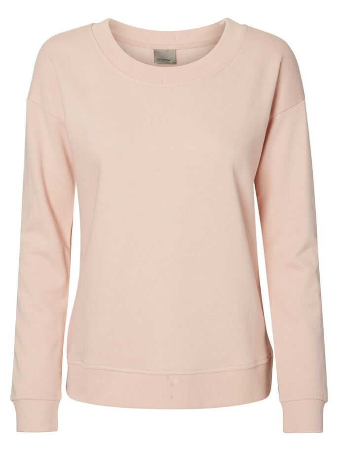 CASUAL SWEATSHIRT, Peach Whip, large