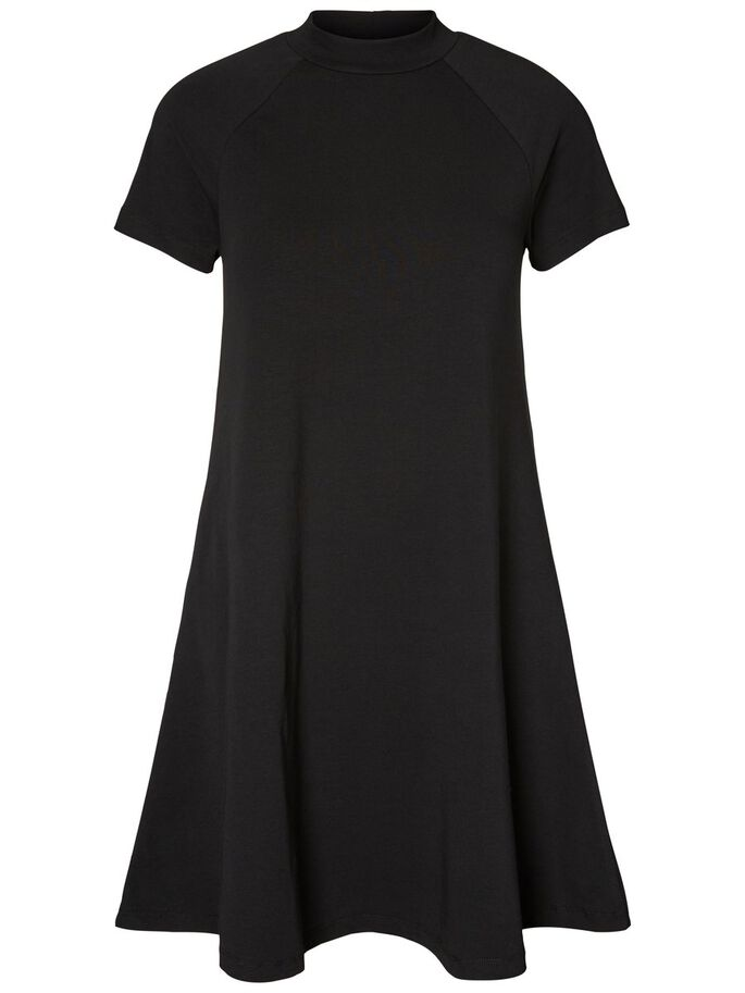 CASUAL ROBE À MANCHES COURTES, Black, large