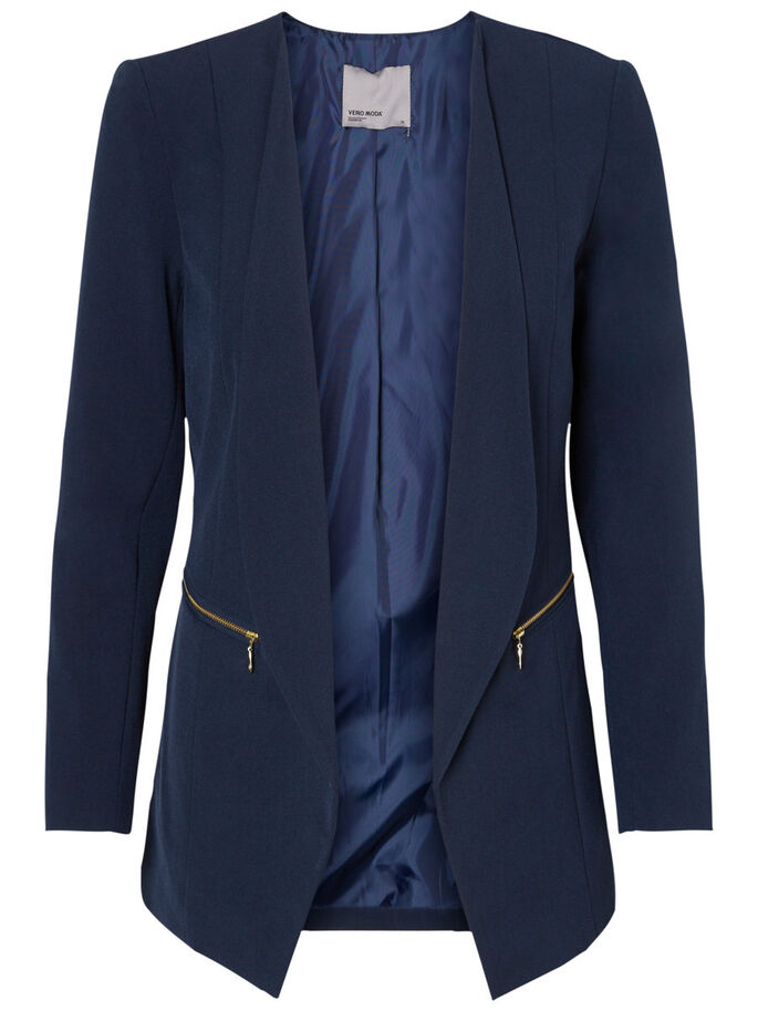 3/4 SLEEVED BLAZER, Navy Blazer, large