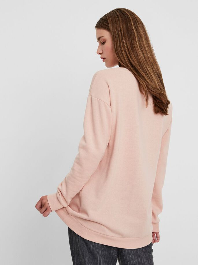 SWAN SWEATSHIRT, Rose Cloud, large