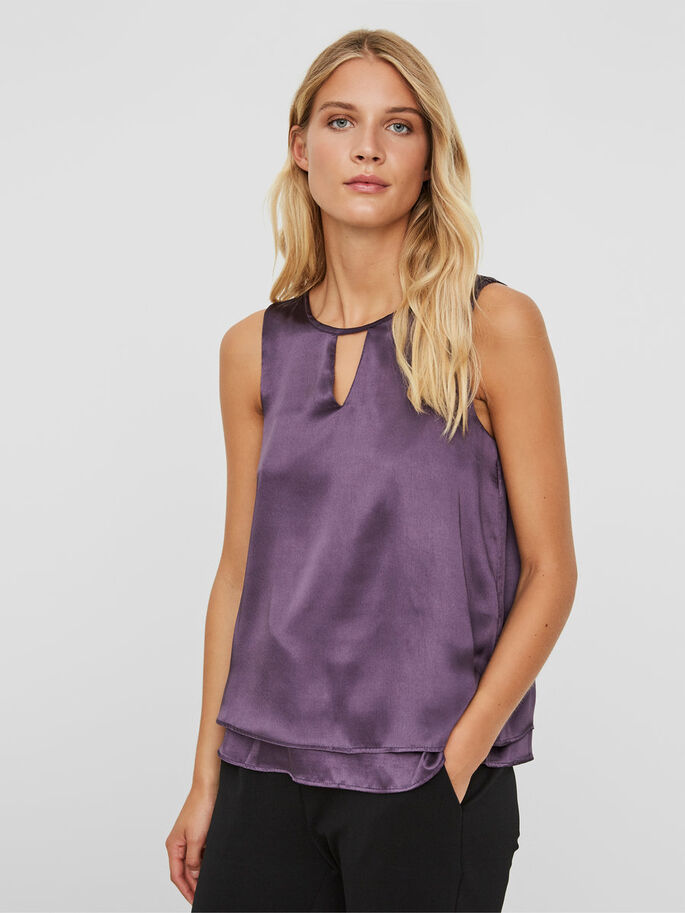 FEMININE SLEEVELESS TOP, Nightshade, large