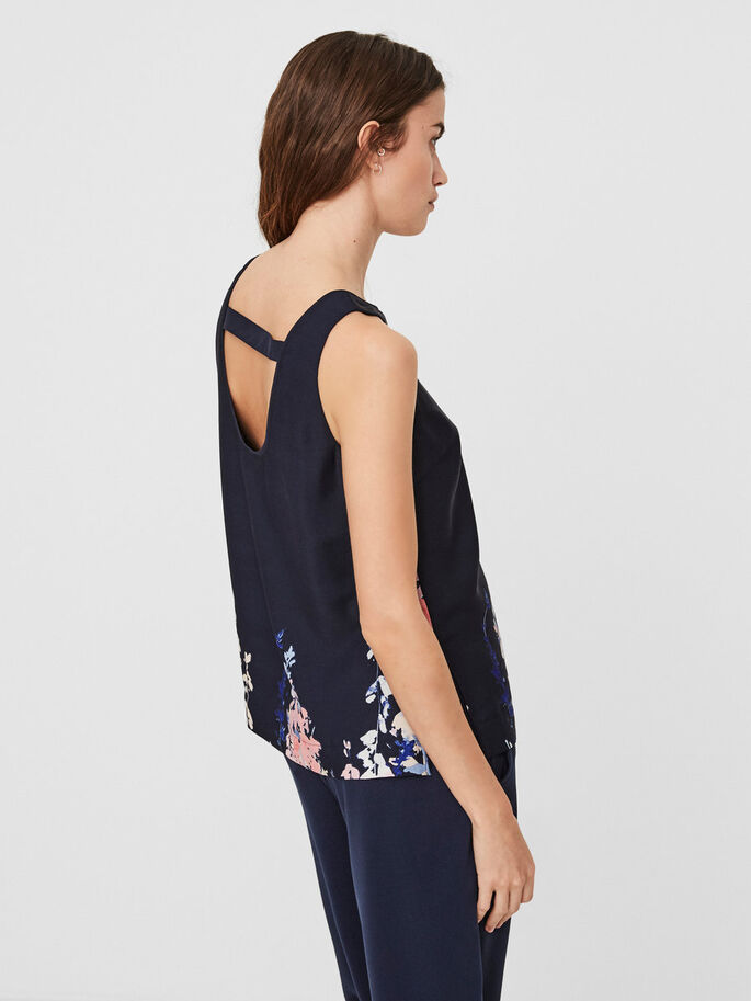 FLEUR TOP SANS MANCHES, Navy Blazer, large
