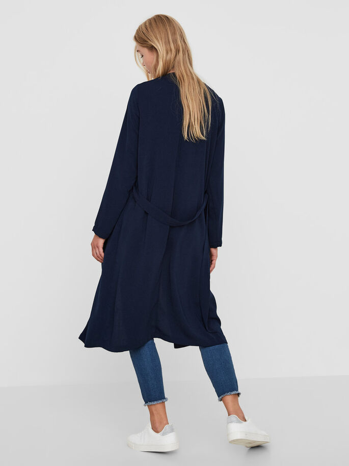 LANGER TRENCHCOAT, Navy Blazer, large