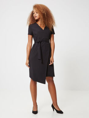 ASYMMETRIC SHORT SLEEVED DRESS