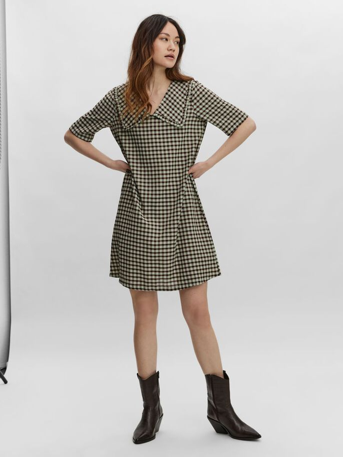 2/4 SLEEVED MINI DRESS, Jadeite, large