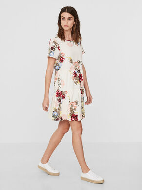 FLOWER SHORT SLEEVED DRESS