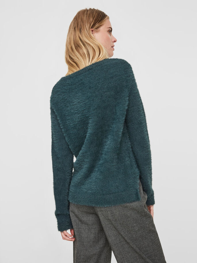 CASUAL KNITTED PULLOVER, Green Gables, large
