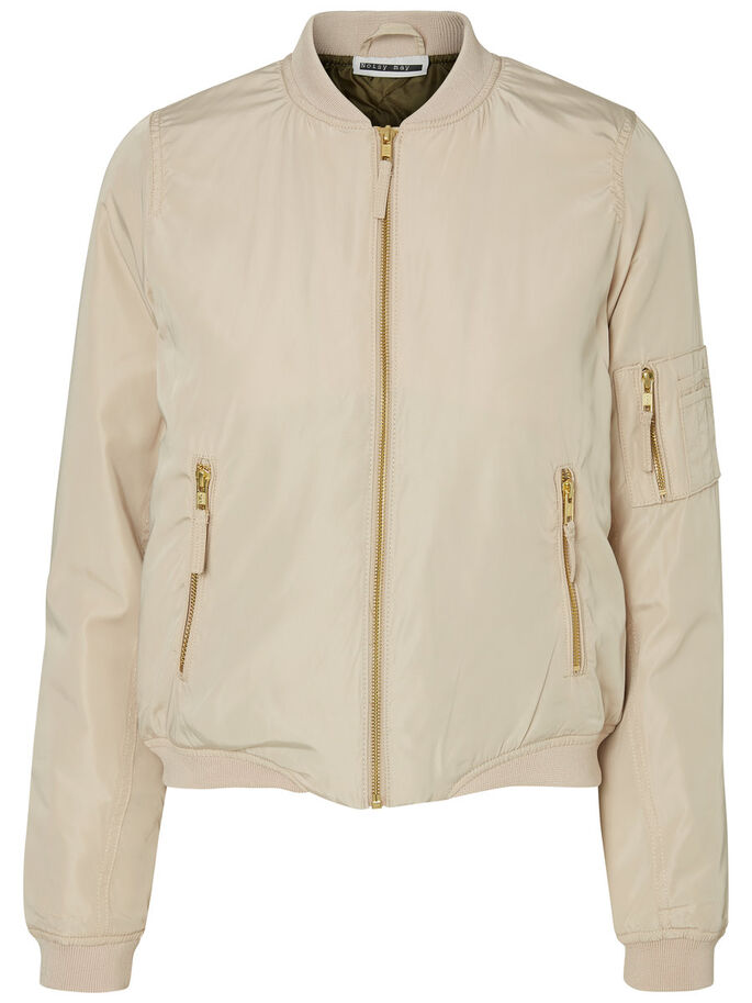 BOMBER JACKET, Humus, large