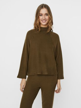 HIGH NECK LONG SLEEVED TOP