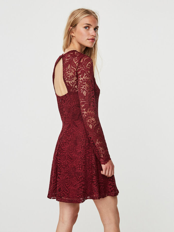 LACE DRESS, Zinfandel, large