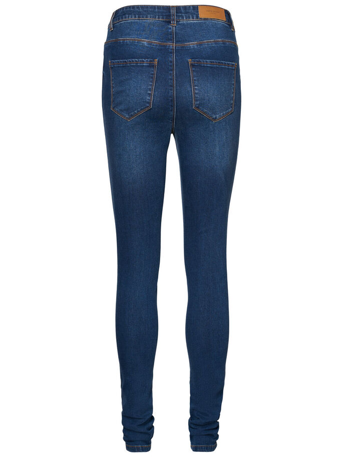 NINE HW SUPER SKINNY JEANS, Medium Blue Denim, large