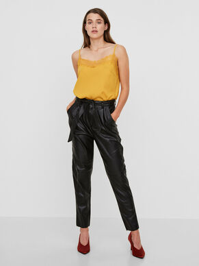 HW LEATHER-LOOK TROUSERS