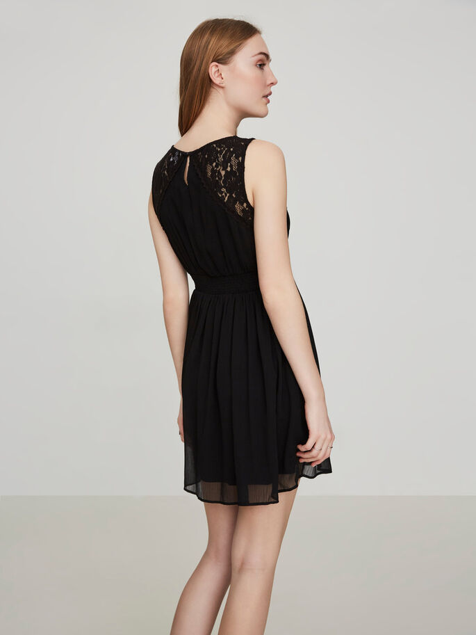 ROMANTIC MINI DRESS, Black, large