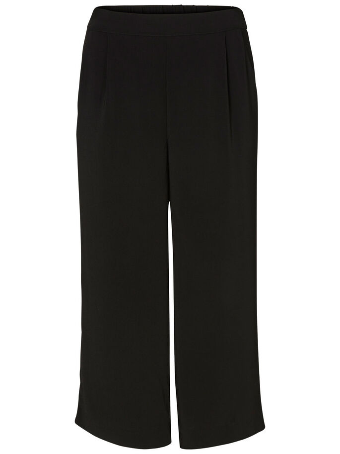 JUPE-CULOTTE PANTALON, Black, large