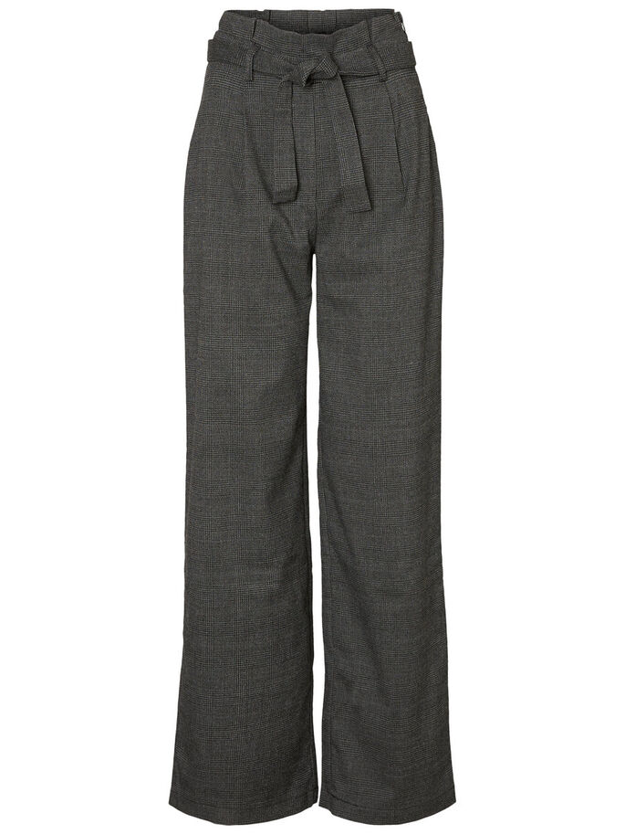 WIDE TROUSERS, Medium Grey Melange, large