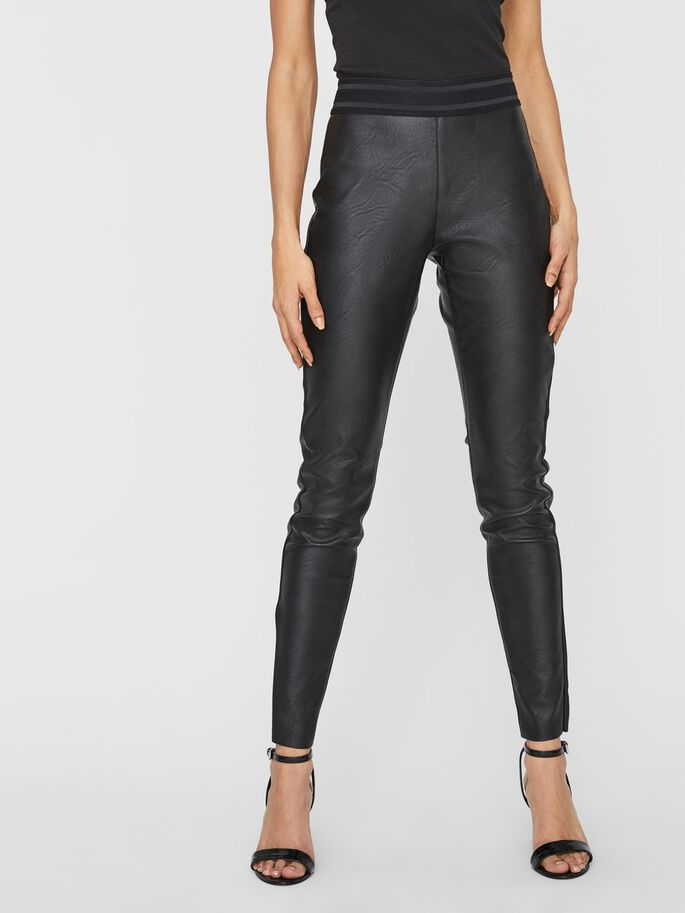 NW SIMILI-CUIR LEGGINGS, Black, large