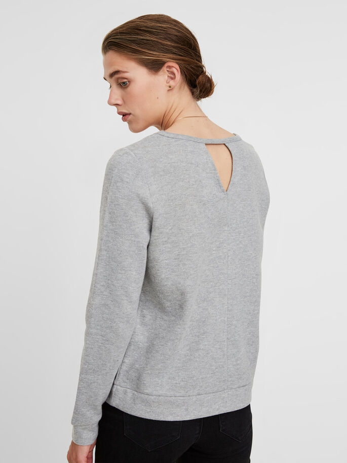 PEARL SWEATSHIRT, Light Grey Melange, large