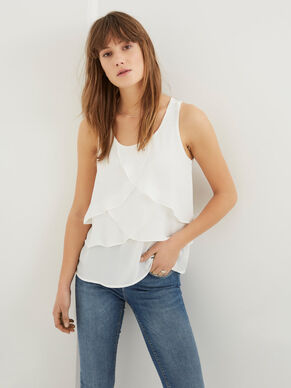 LAYERED SLEEVELESS TOP