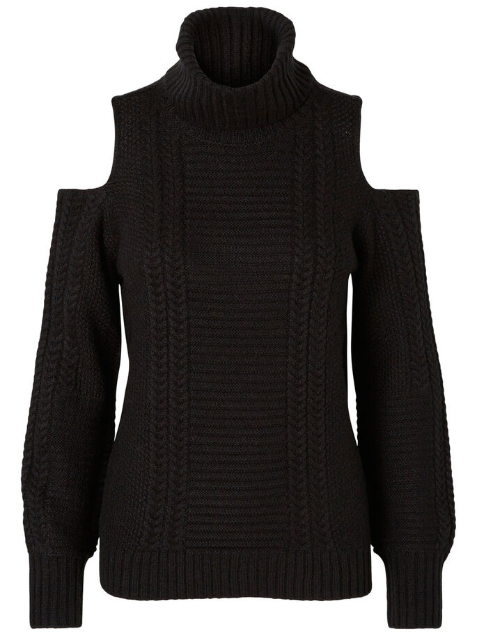 MAILLE PULLOVER, Black, large