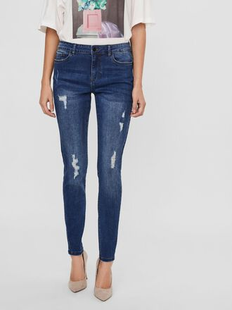 VMHANNA NORMAL MIDJE SKINNY FIT JEANS