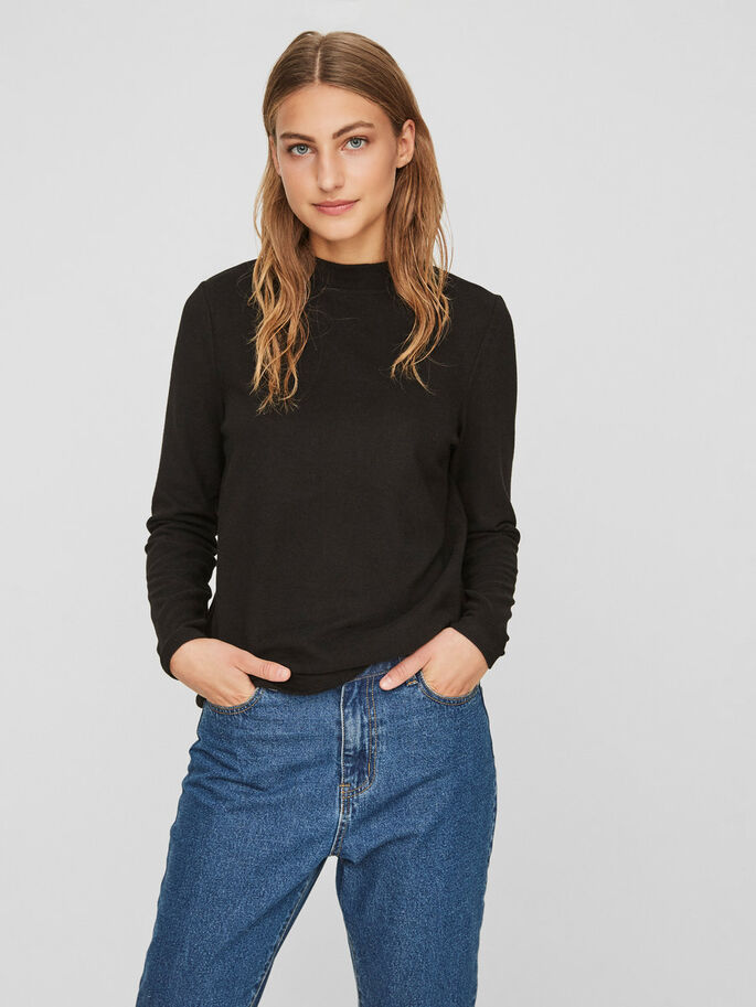 CASUAL PULLOVER, Black, large