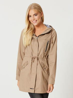 LONG SLEEVED PARKA COAT