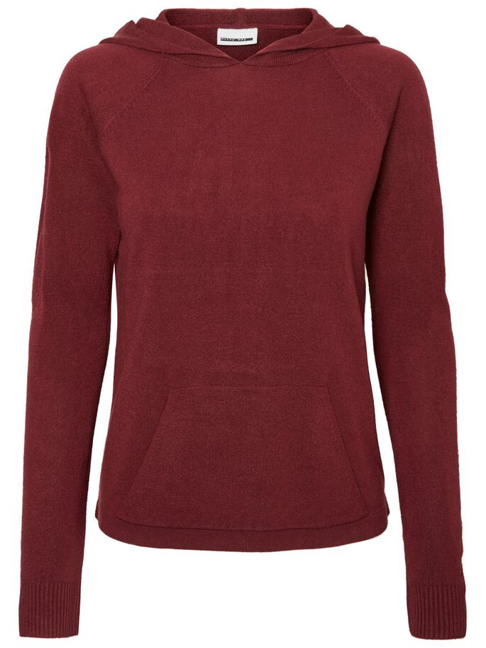CASUAL KNITTED PULLOVER, Zinfandel, large