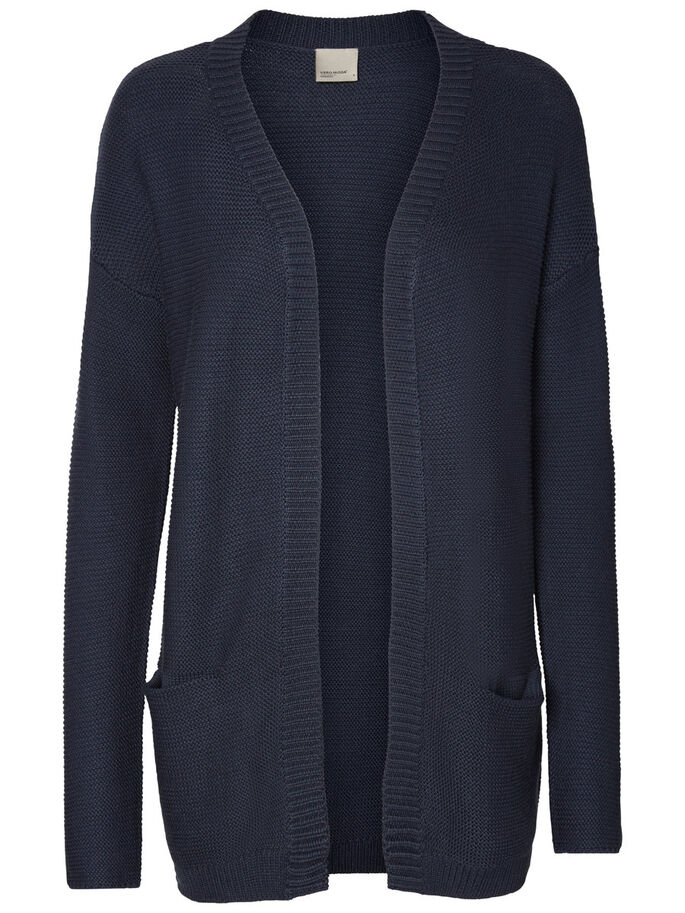 COMFY KNITTED CARDIGAN, Navy Blazer, large