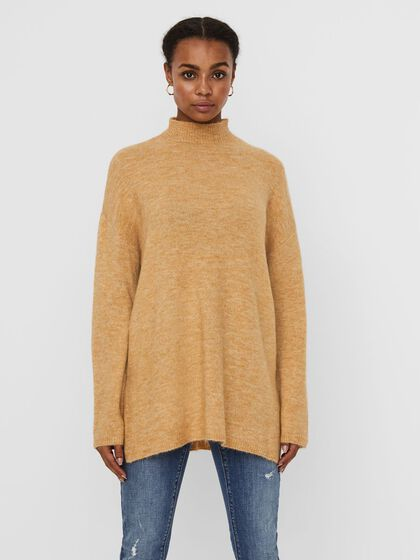 LONG COL MONTANT PULL EN MAILLE
