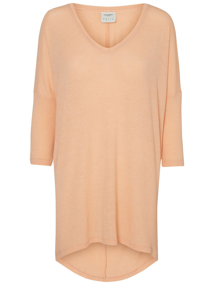 LONGUE BLOUSE MANCHES 3/4, Dusty Coral, large