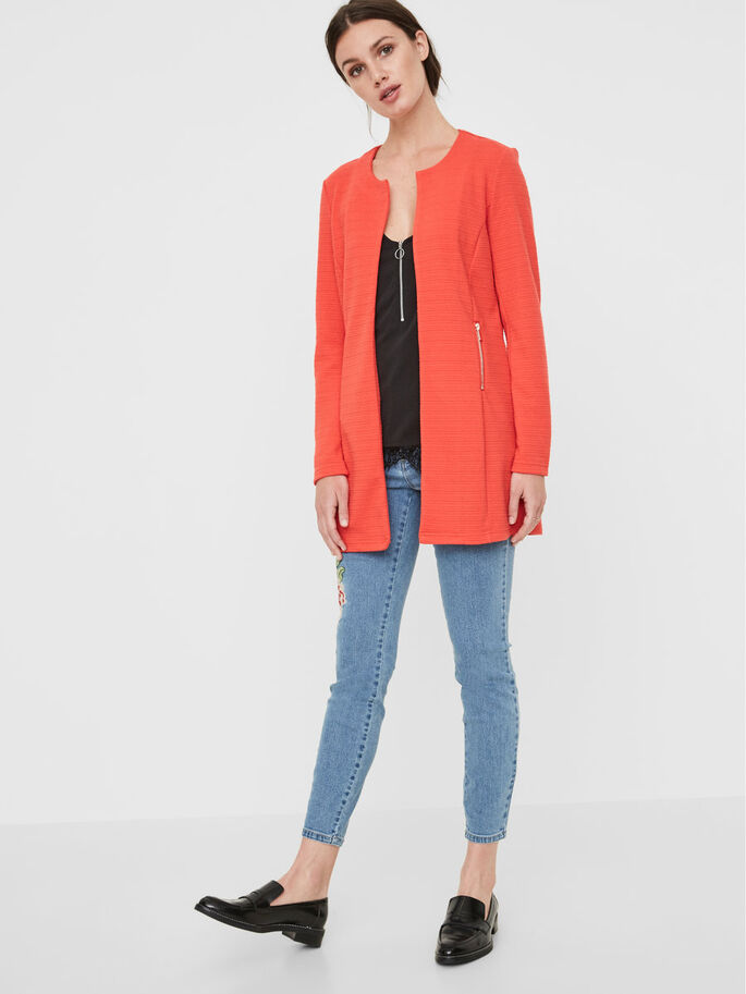 LONG BLAZER, Hibiscus, large