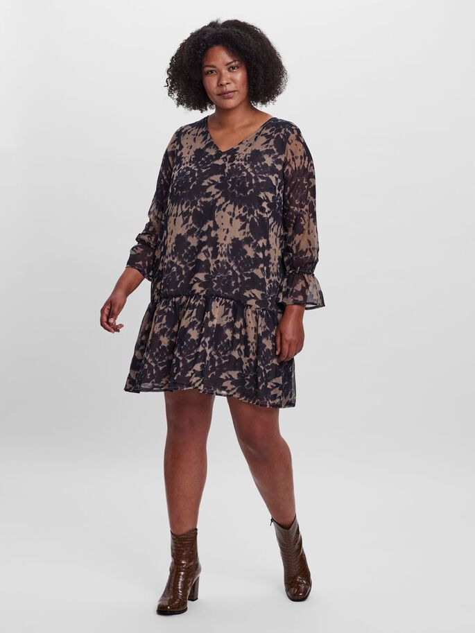 PRINTED DRESS, Fossil, large
