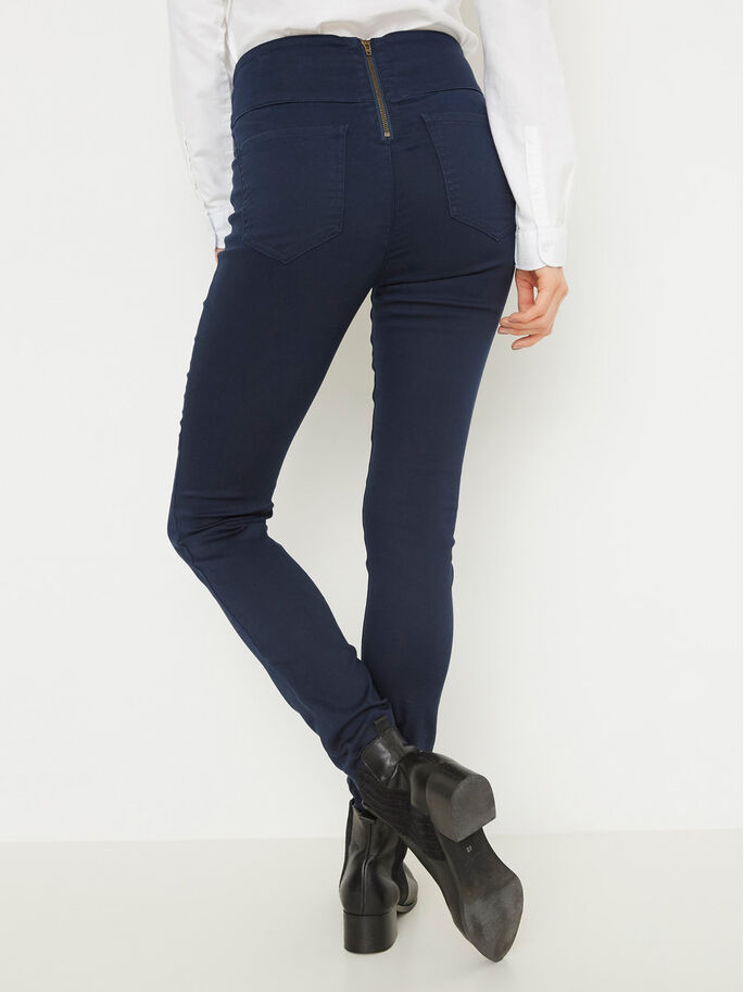 HIGH WAIST JEGGINGS, Navy Blazer, large