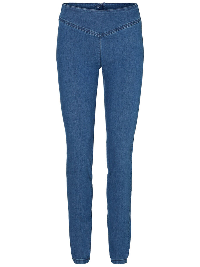 FLY HW JEGGINGS, Medium Blue Denim, large