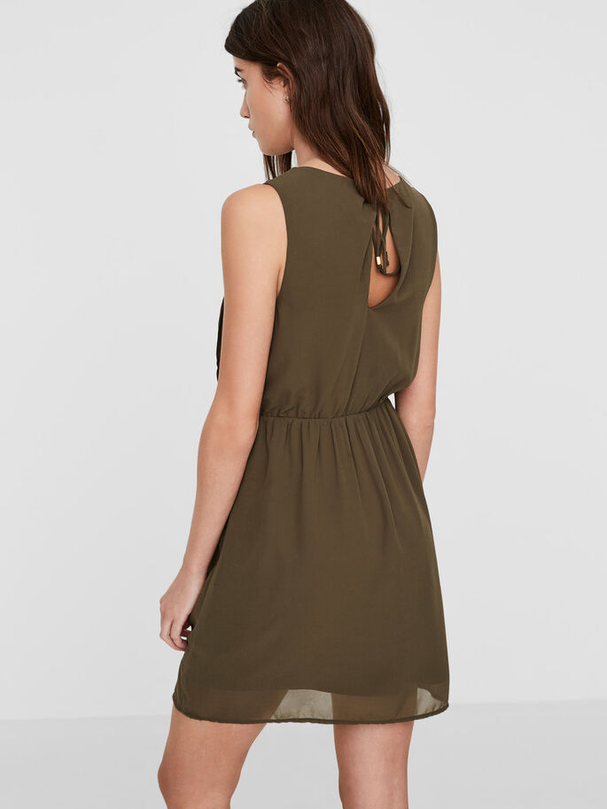 FÉMININE ROBE SANS MANCHES, Ivy Green, large