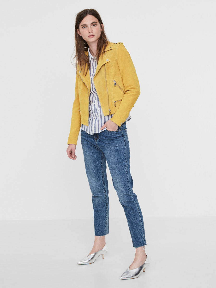 Vero moda suede jacket yellow