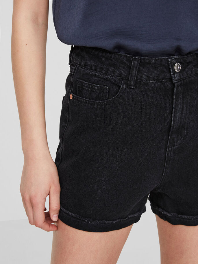 HW DENIM SHORTS, Black, large