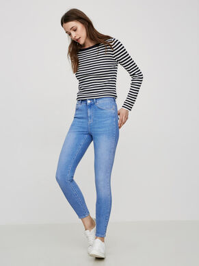 LUX HW ANKLE SKINNY FIT JEANS