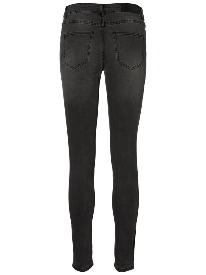 LUCY NW SKINNY FIT JEANS, Dark Grey, large