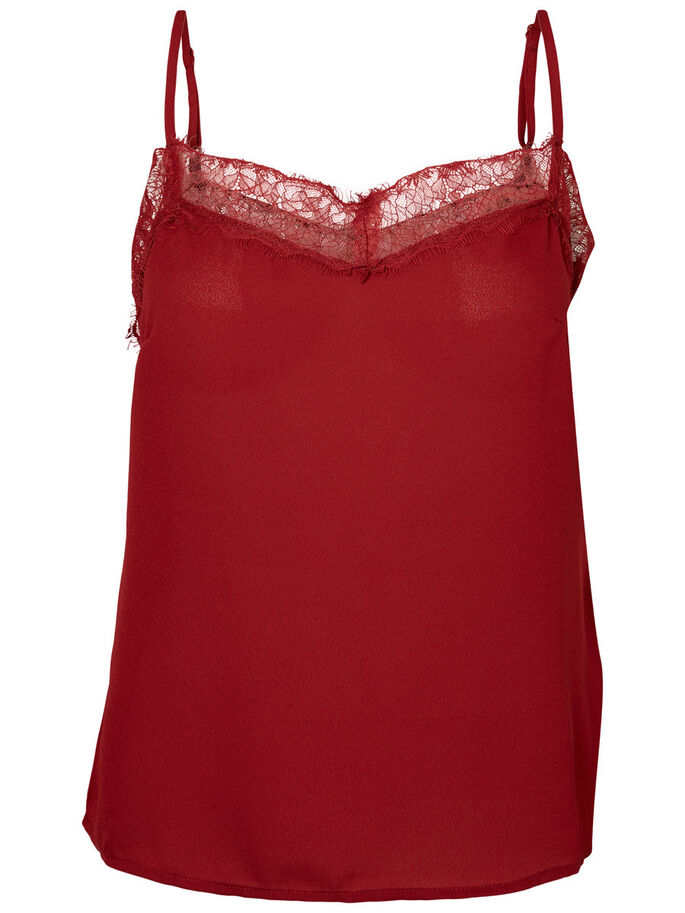 LACE SINGLET, Sun-Dried Tomato, large