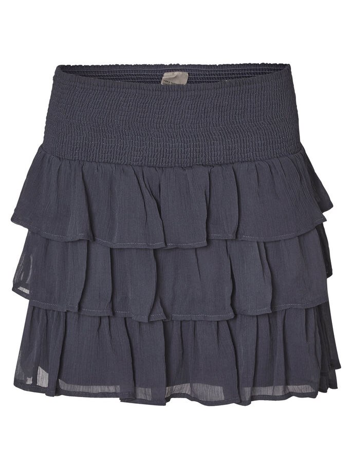 FEMININE MINI SKIRT, Ombre Blue, large