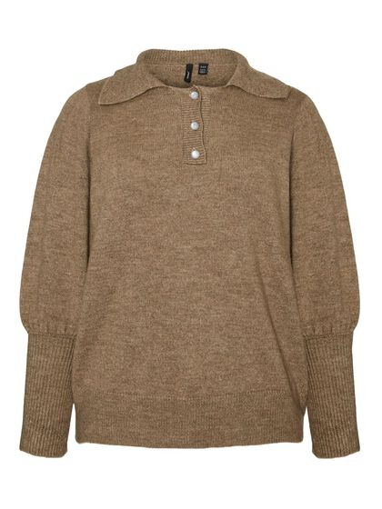 BUTTON KNITTED PULLOVER
