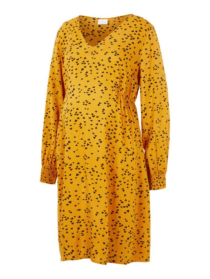 HEART PRINTED MATERNITY DRESS, Narcissus, large
