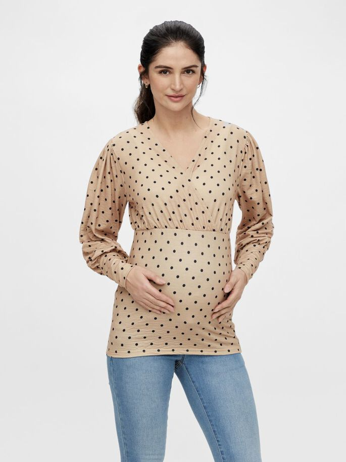 MLCELINA 2-IN-1 MATERNITY TOP, Nomad, large