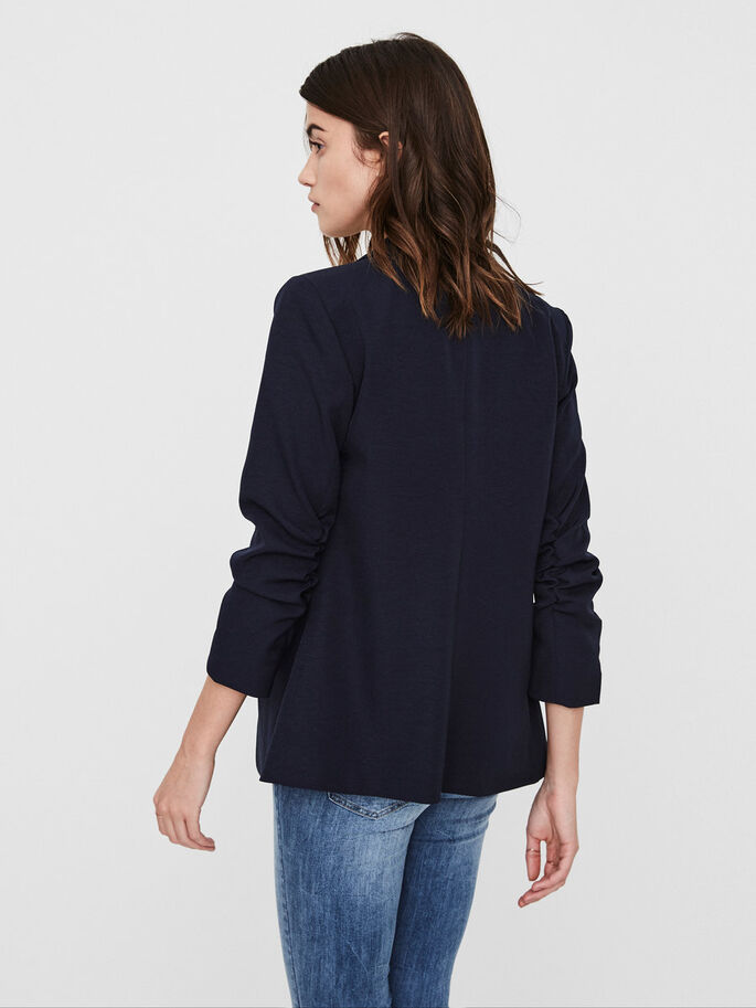 MANCHES 7/8 BLAZER, Navy Blazer, large