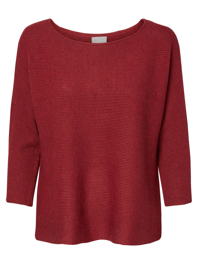 CASUAL 3/4 SLEEVED BLOUSE, Tibetan Red, large