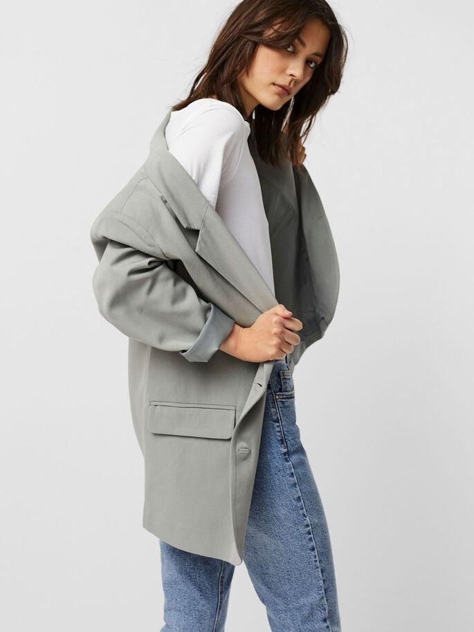 COUPE OVERSIZE BLAZER, Neutral Gray, large
