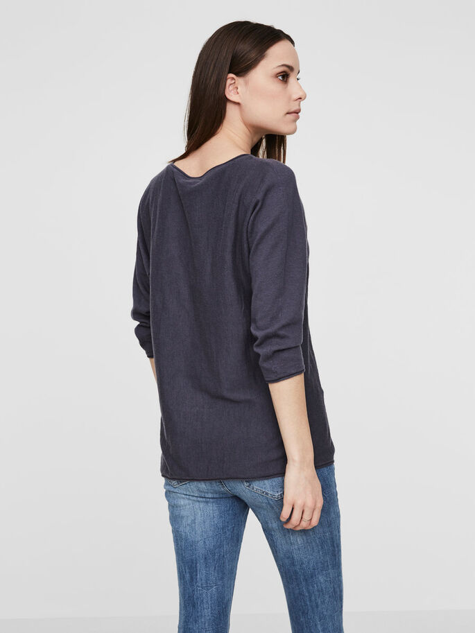 CASUAL SHIRT MET 3/4 MOUWEN, Ombre Blue, large